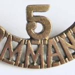 No5 Cdo brass shoulder title