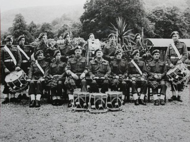 The Demonstration Troop and Pipes and Drums band at Achnacarry