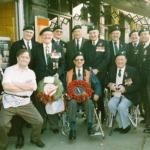 Commando Veterans at the  cenotaph service 1988