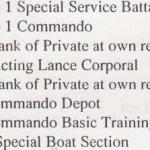 Part of the Service Record for L/Cpl. Arthur Horner
