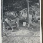 Capt. John Bowyer (on the right) and another, Silchar,  Assam 1944