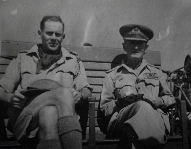 Lt. Col. F.W. (Ted) Fynn MC and Admiral Sir Walter Cowan KCB  DSO*  MVO