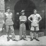 Rangoon May 1945 Lieut. Frederick Norman Best of 2 SBS on the left, and 2 others.