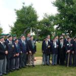 Commando Veterans by the Memorial