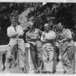 """Ginger Martin, """"Bill"""" Gilbraith, """"Joe"""" Scholey & Scouse Buckley,  42 RM Cdo. May 1945 India"""