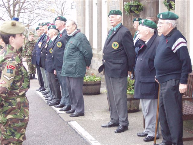 Cadets facing the Commando Veterans, Fort William 2007