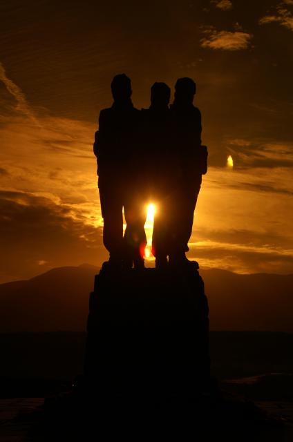 Sunrise at the Commando Memorial