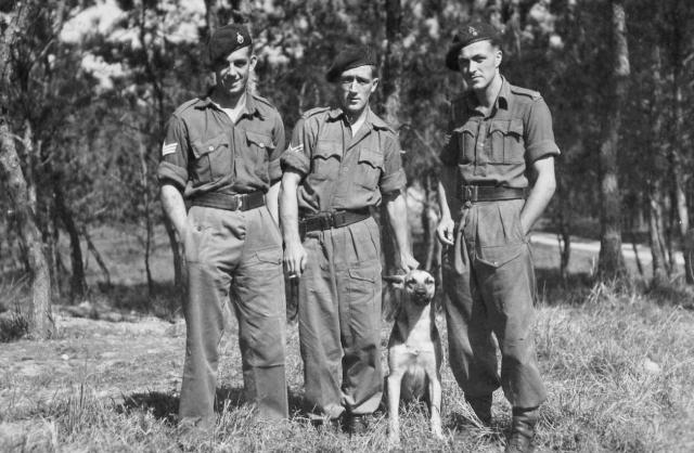 Sgt Ted Tharme, Bob Wright and a fellow SNCO