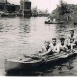 4-man canoe - Willemstad, Netherlands - spring 1945.
