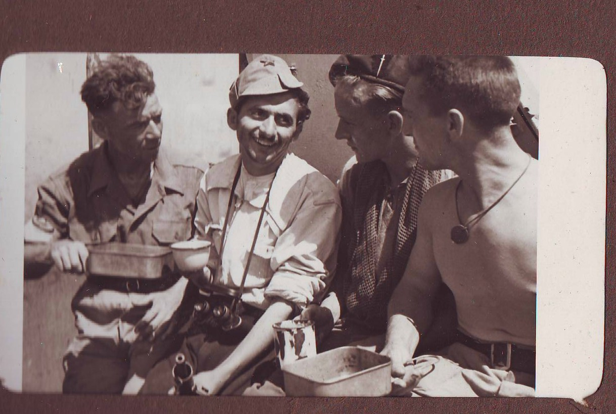 J. Bettany and  John Japp of No.2 Cdo , Frank Gilles of the RSR, and partisan Martho Rapo