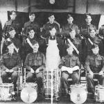 The volunteer drum and bugle band of the 8th Battalion RM in 1942