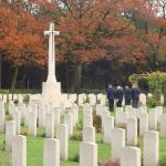 Bergen-op-Zoom War Cemetery - Veterans lay a wreath