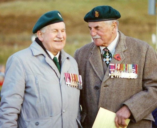 Brigadier Ken Trevor CBE DSO and RQMS Henry Brown OBE