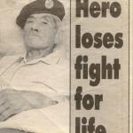 Newspaper article about the death of Ron Chung