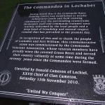 The Commandos in Lochaber Commemorative Stone