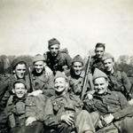 Gnr. Bill Harvey and others from No.4 Cdo, Winchester April 1943.