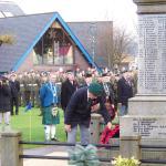 Billy Moore, No5 Cdo, lays the Wreath