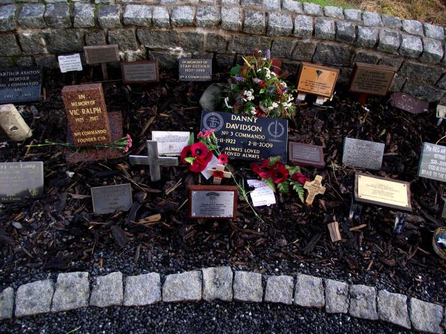 Plaques at the Commando Garden of Remembrance