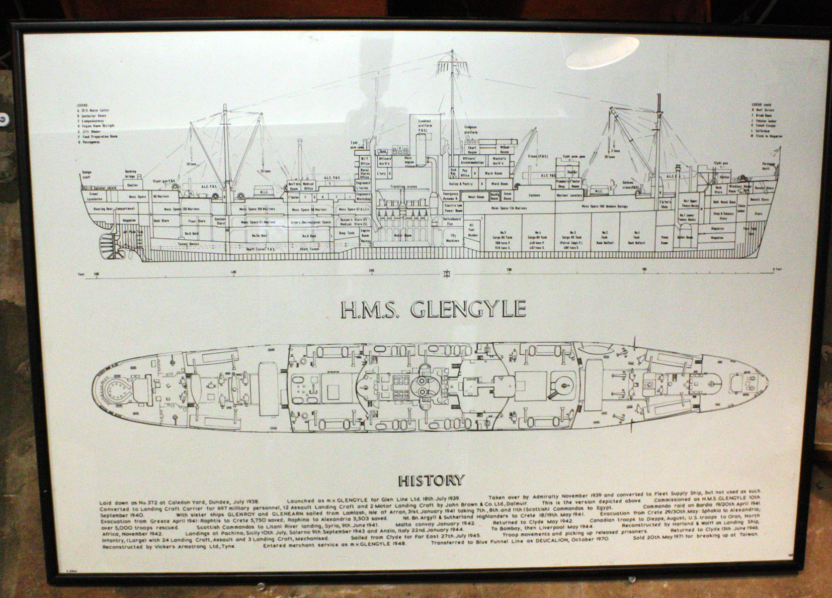 HMS Glengyle plans