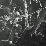 No.2 Commando on the Toggle Bridge