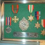 Captain Phillip Ayton's Medals on display at Trinity Parish Hall, Jersey