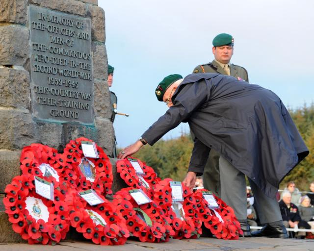 Service at the Commando Memorial, Spean Bridge - 30