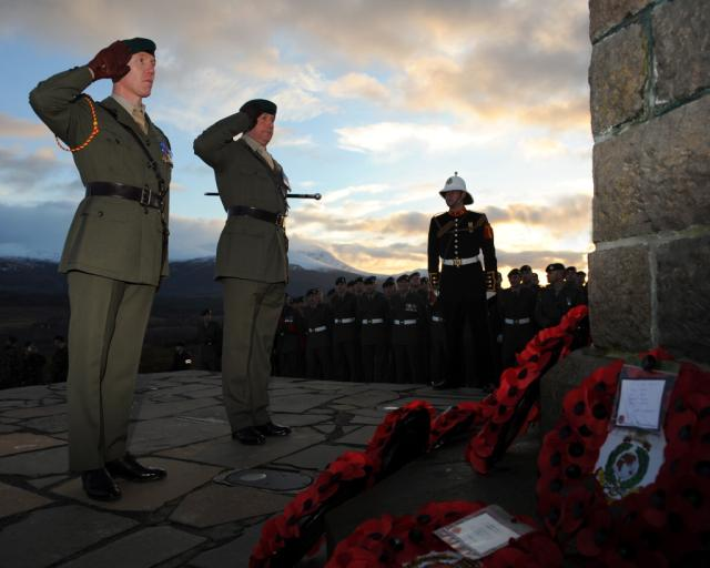 Service at the Commando Memorial, Spean Bridge - 31