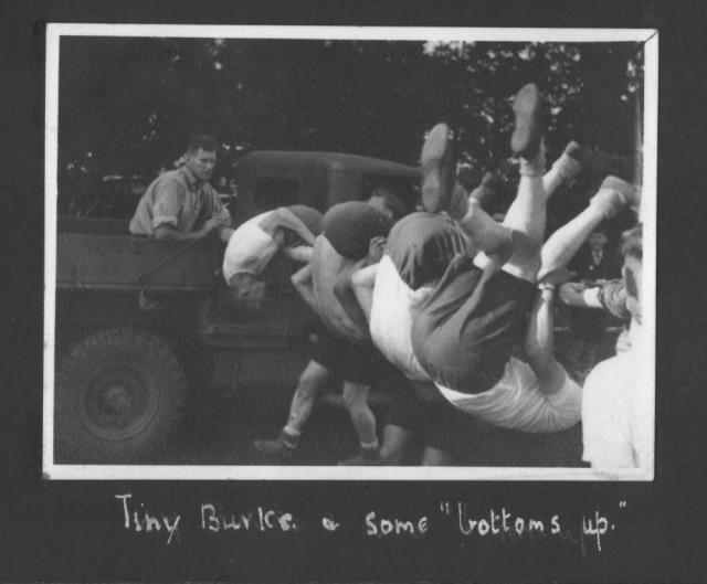 Sgt. 'Tiny' Burke in the truck