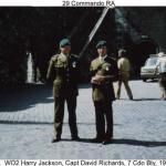 WO2 Harry Jackson and Capt. David Richards.