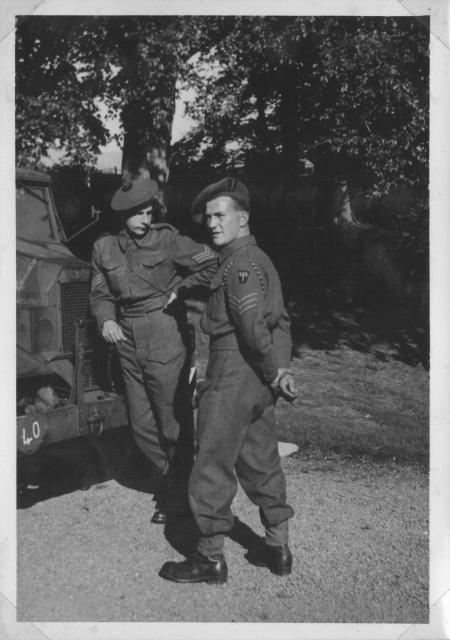 Sgts. Arthur  Wardle and Roy Bellringer