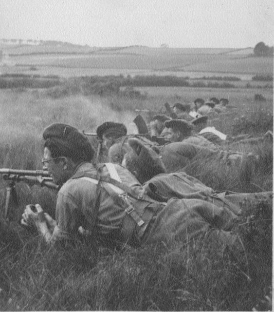 Bren Gun training Dumfries 1941