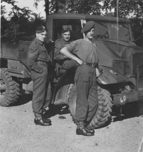 Sgts. Johnny Knowles, Tom Sherman and Dvr. Torkington