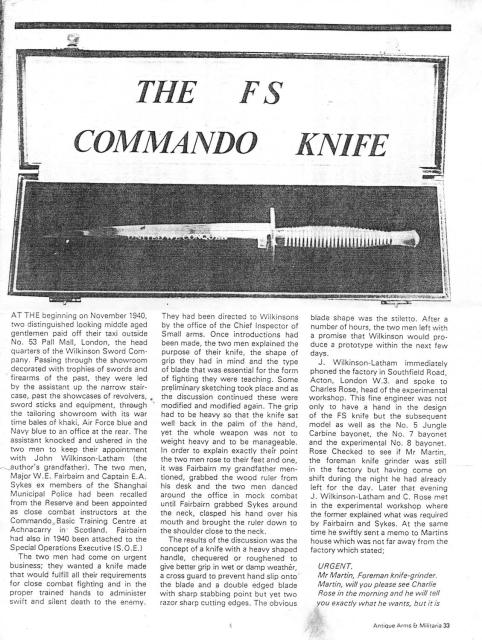The FS Commando Knife - 1