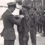 Medal ceremony for Pte. Niek J. de Koning