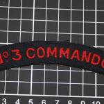 No. 3 Commando shoulder title-woven