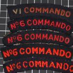 No.6 Commando shoulder titles-woven