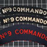 No.9 Commando shoulder titles-woven and printed
