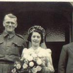 Pte. Martien van Barneveld, marries a lovely girl from Northern Ireland, 17 March 1943