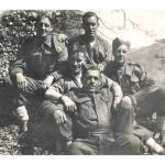 Tom in the front with fellow Commandos