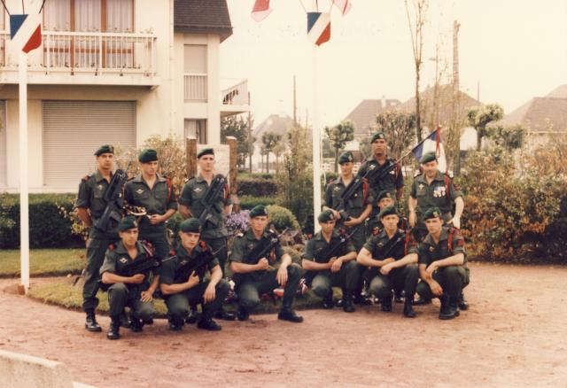 French Commando guard of honour