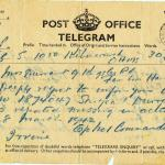Missing Notification Telegram dated 1st April 1942