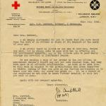 British Red Cross letter dated 21st July 1942