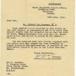 Royal Engineers letter to family dated 16th July 42