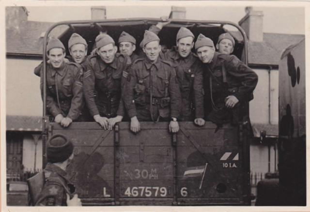 Some of  No.10IA Cdo.2 'Dutch' Troop on way to a weapons demonstration