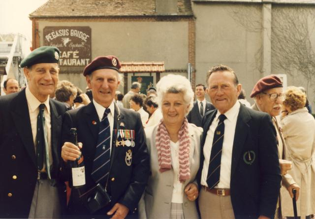 Arthur Chivers and others at Pegasus Bridge