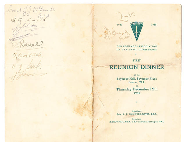 Old Comrades Association of the Army Commandos First Reunion Card - 1