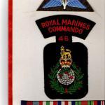 Insignia of Sgt John Fairhurst 46RM Cdo.
