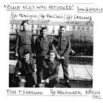 Sergeants Peacock, MacClair, Garland, and TSM Sherman and Sgt. Bellringer