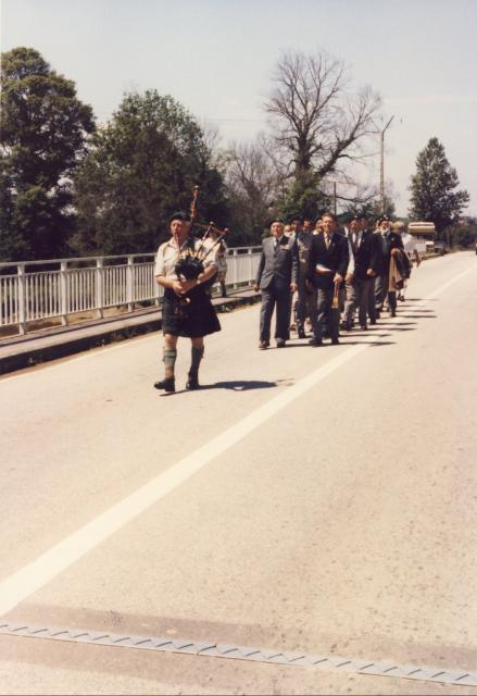 March across Pegasus Bridge