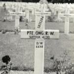 The grave of Pte. Robert Ong of No.4 Commando.